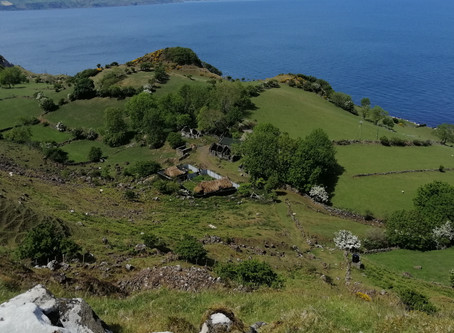 Hiking on Garron Plateau & Exploring the Hidden Village at Galboly.