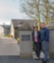 Dee & Johnny at Entrance to BallyCairn