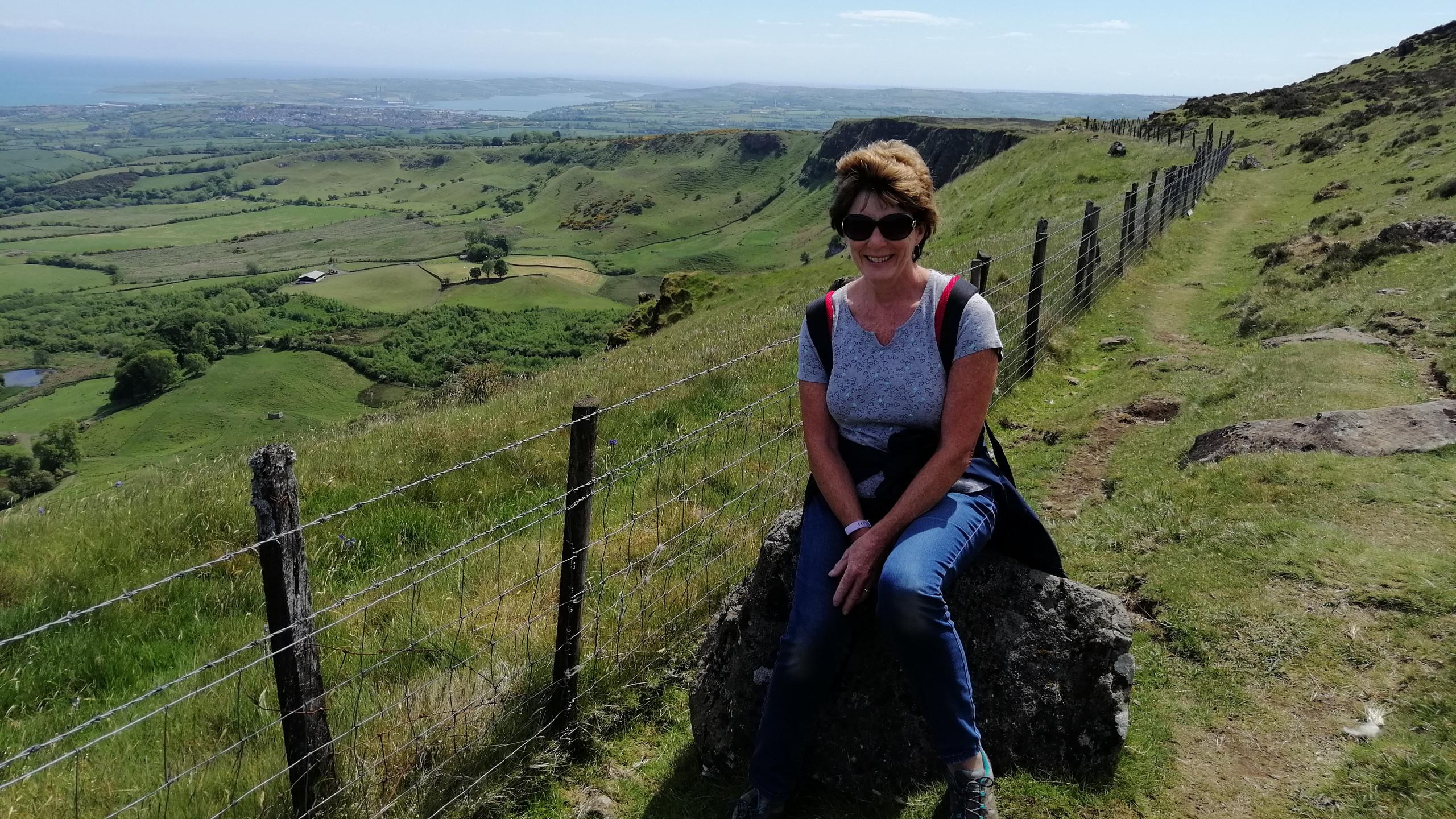 Dee on Sallagh Hill