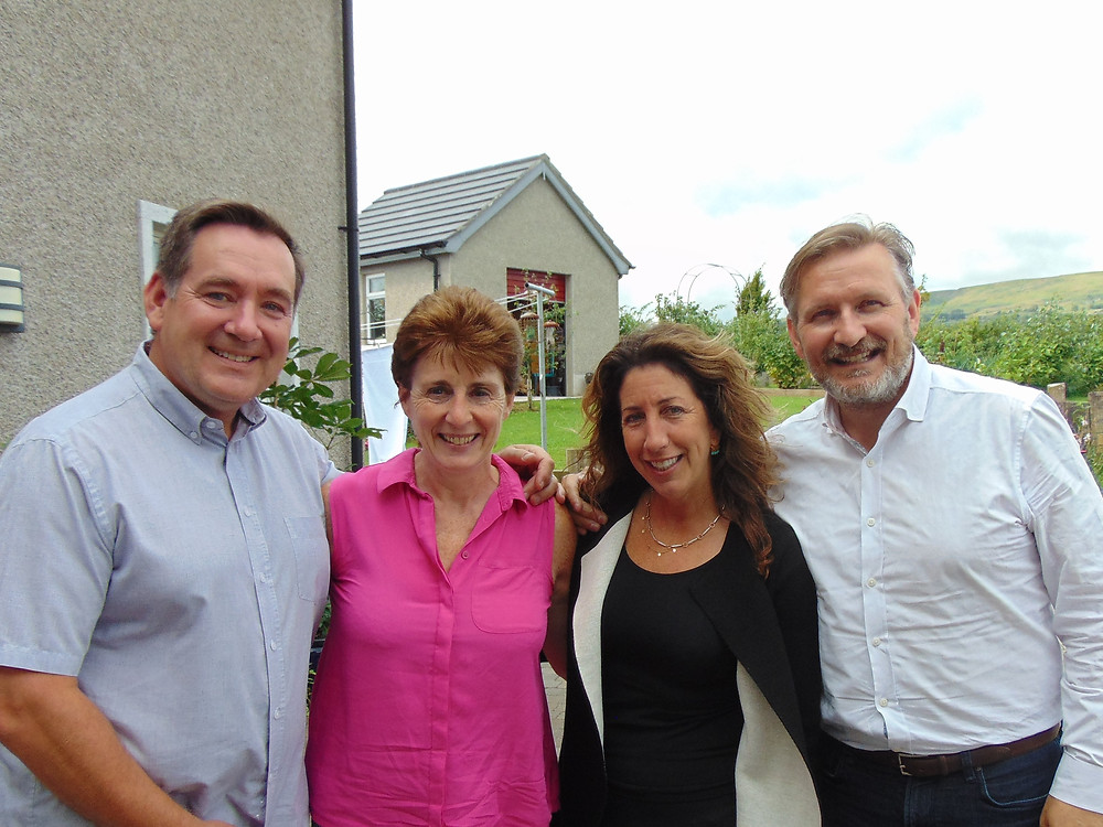 Delighted to welcome my great school friend Michael (from GT days!) and his lovely wife Karen, to BallyCairn earlier today. Dee and I look forward to visiting them in NY someday.
