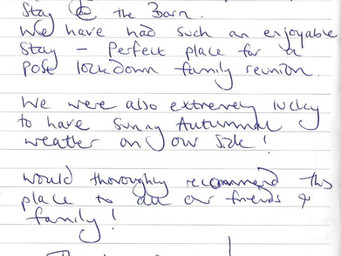 Guest Review of Autumn Stay in Barn @ BallyCairn