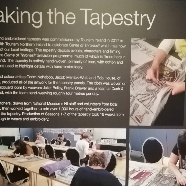 Making Tapestry Info March 2019