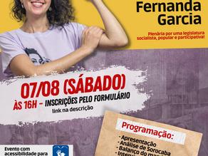 Encontro do mandato Fernanda Garcia: uma plenária por um mandato popular, socialista e combativo!