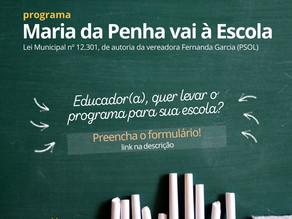 Fernanda convida educadores a participarem do Programa Maria da Penha vai à Escola