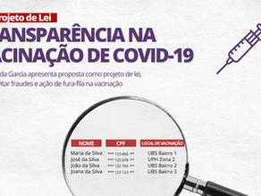 Fernanda apresenta projeto de Lei Municipal por transparência na vacinação de Covid-19