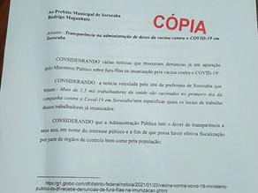 Fernanda Garcia reivindica divulgação da vacinação de Covid-19 no Portal da Transparência
