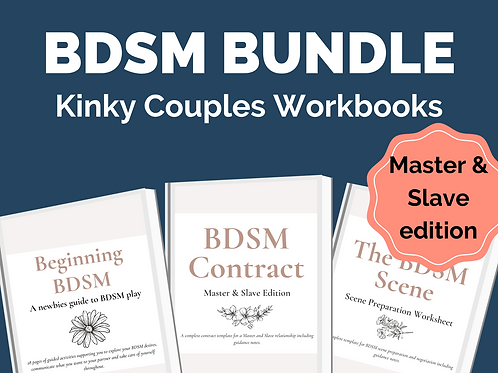 BDSM Bundle for Couples: Master and Slave Edition