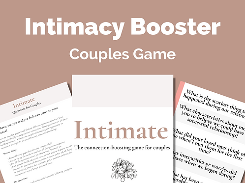 Intimate: Intimacy Cards for Couples