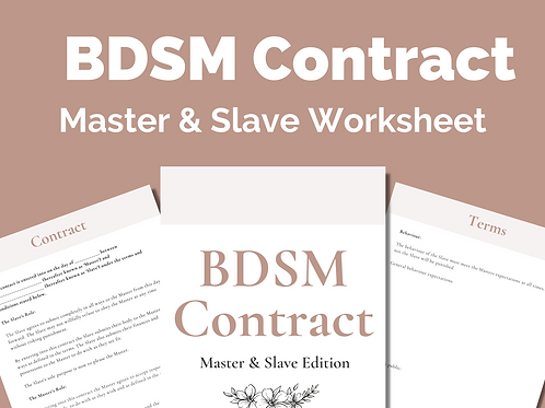 BDSM Contract: Master and Slave Edition