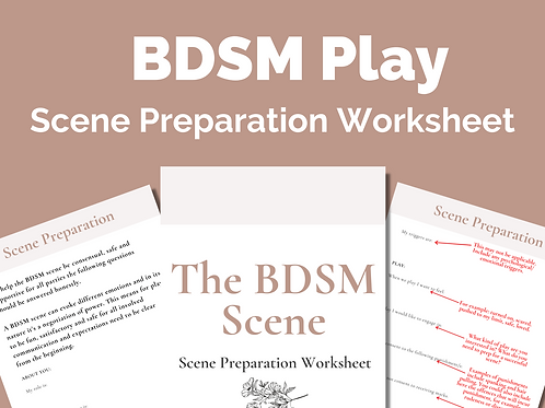 The BDSM Scene: BDSM Scene Preparation Worksheet