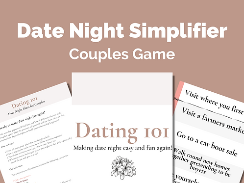 Dating 101: Date Night Cards for Couples