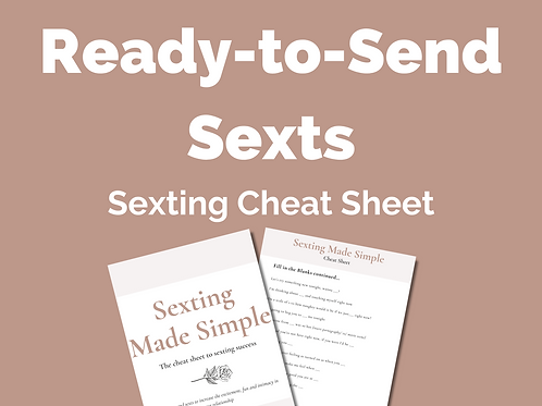 Sexting Made Simple: Cheat Sheet