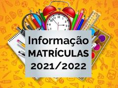 Informação Matrículas 2021/2022