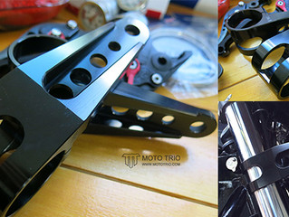 ALUMINUM HEADLIGHT BRACKETS RETRO V.2