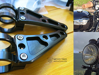 ALUMINUM HEADLIGHT BRACKETS RETRO V.3