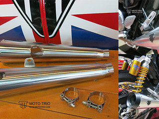 MOTO TRIO EXHAUST THRUXTON R