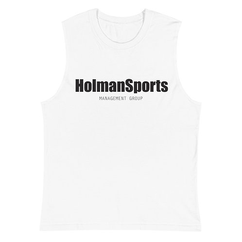Holman Sports - White Muscle Shirt