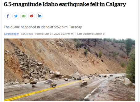 Measurement of Idaho Earthquake on March 31 2020