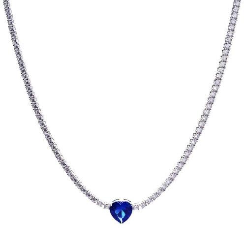 Swarovski con cuore blu