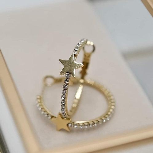 Orecchini gold stella
