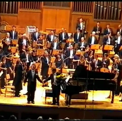 Performing with the Sofia Philharmonic Orchestra