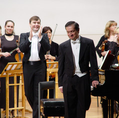 """Performing as a soloist with the Moscow State Chamber Orchestra """"The Seasons"""""""