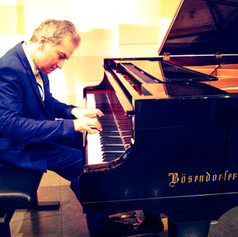 """At the Boesendorfer Hall in """"Mozart's House"""" in Vienna"""