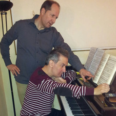 Rehearsing Schubert with the excellent Austrian baritone Georg Lehner