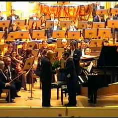 Performing with the Poznan Philharmonic Orchestra (Poznan - Poland)