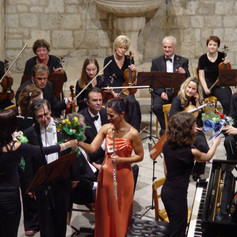 Performing as a soloist with the Dubrovnik Symphony Orchestra (Croatia)
