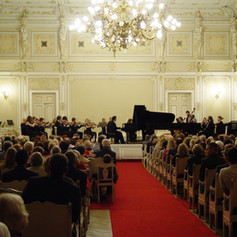 Performing as a soloist with the Orchestra of the St. Petersburg University