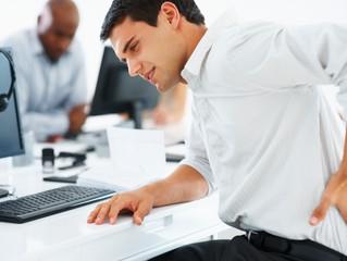 Estudo aponta que dor nas costas é a maior causa de absência no trabalho
