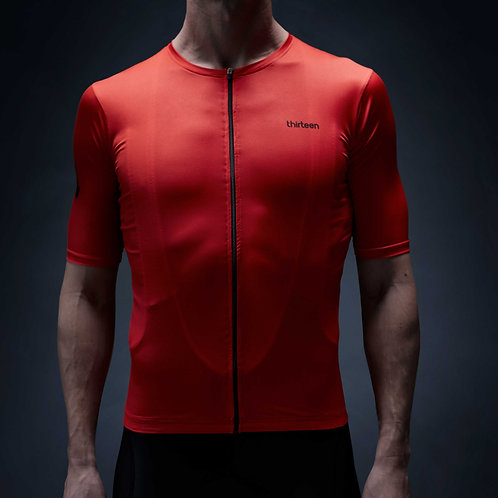 13 thirteen cycling jersey red Hell to Pay front