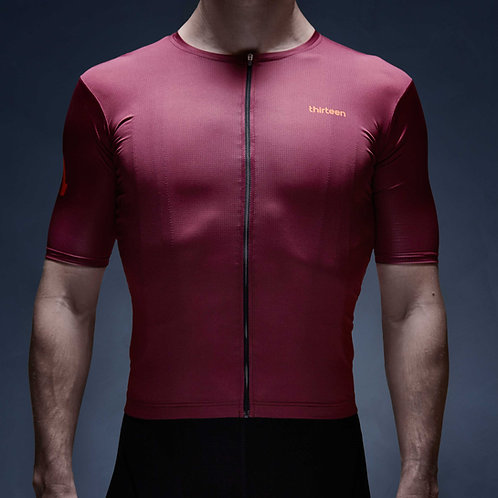 13 thirteen cycling jersey bordeaux Hell to Pay front