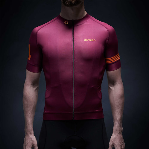 13 thirteen cycling jersey bordeaux front