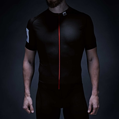 13 thirteen cycling jersey black front