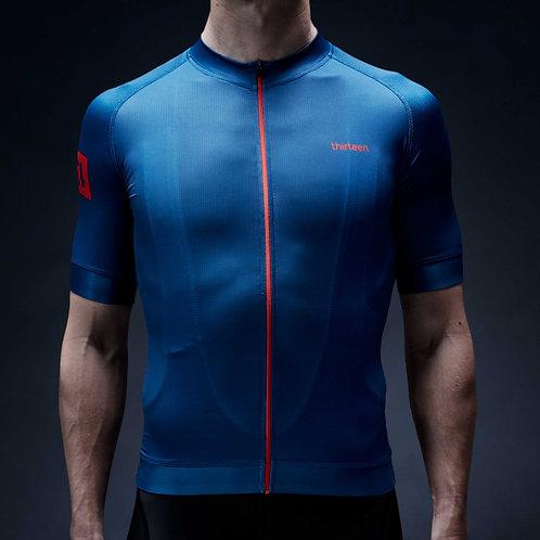 13 thirteen cycling jersey blue front