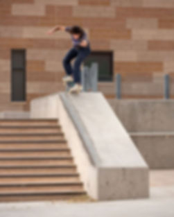 Nose manual street skateboardng tric