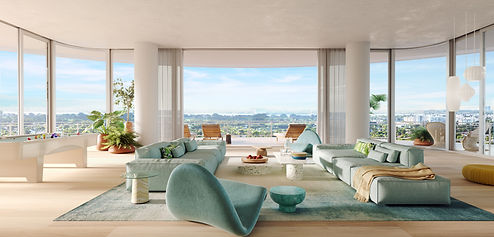 Eighty Seven Park Penthouse Family Room.