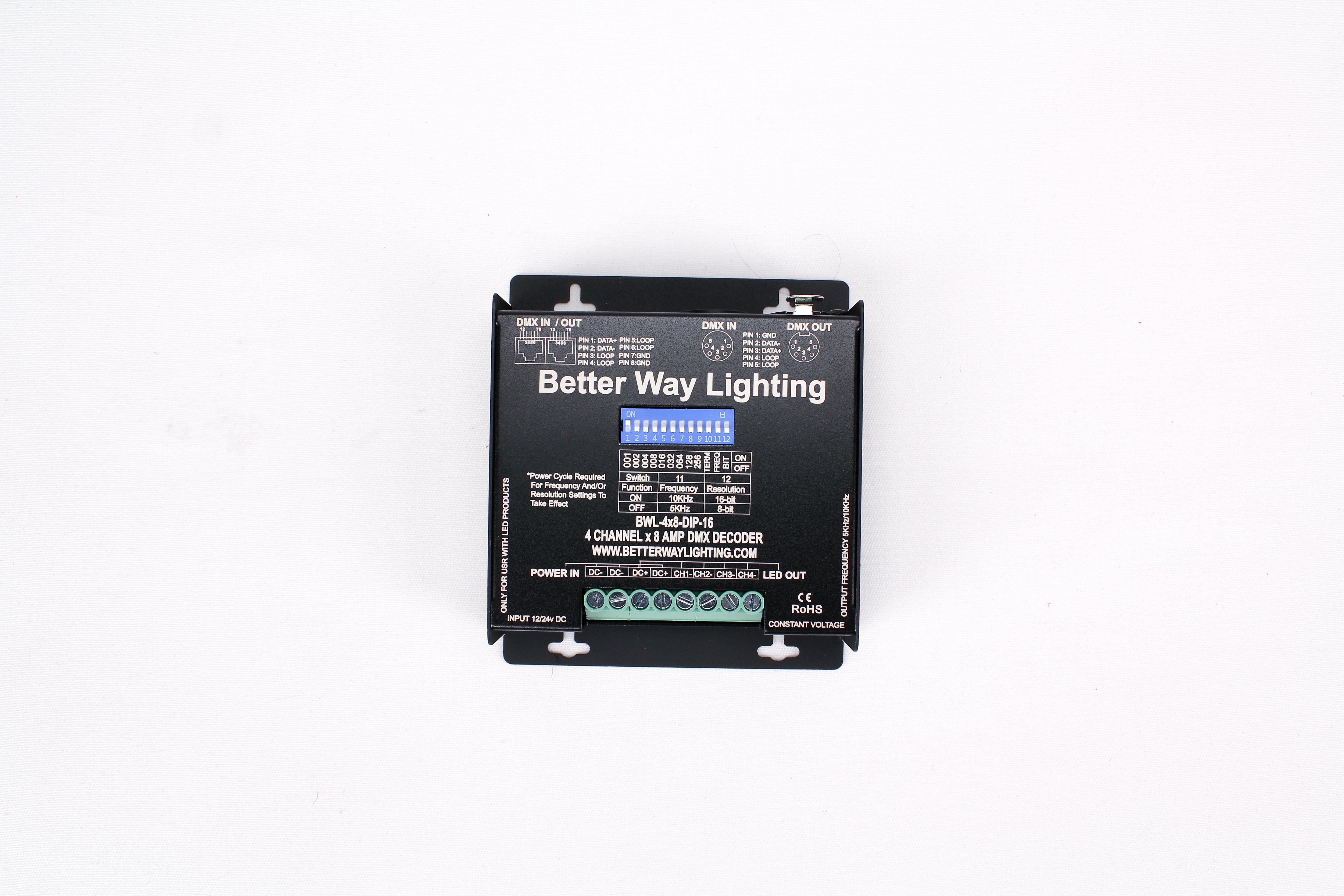 4 Channel x 8 Amp DIP Switch Decoder Rental