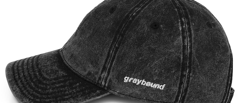 Graybøund Vintage Denim Embroidered Cap