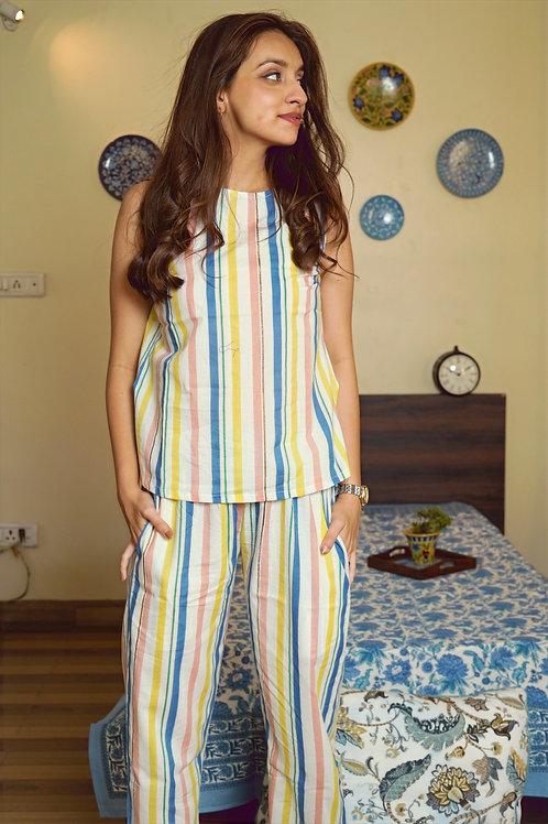 Sunshine Shades Top & Pajamas Night Suit