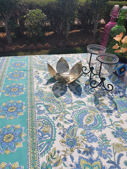 Blue Green 6 seater Table Cover