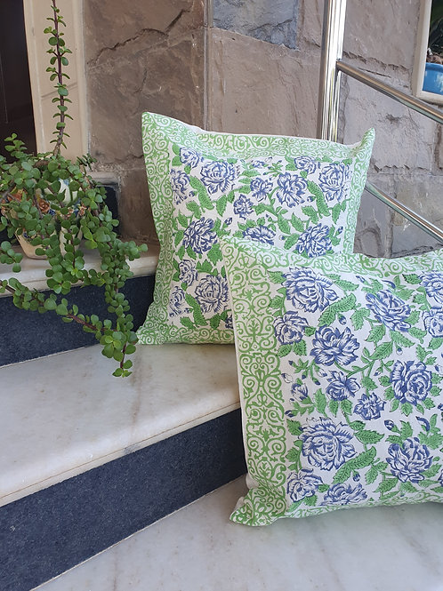 Meeraki Cotton Handblock Printed Cushions