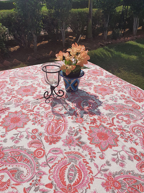 6 seater Dash of Pink Table Cover