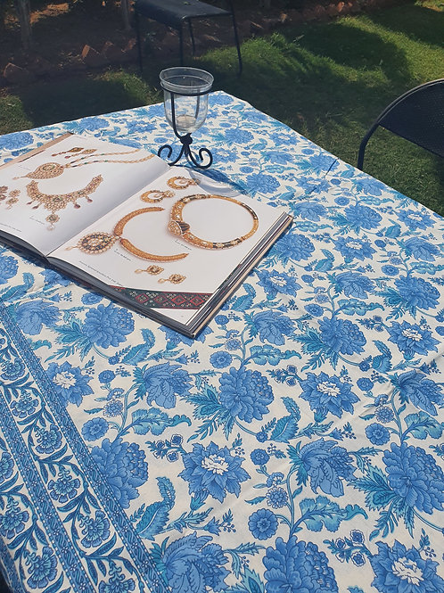 6 seater Blue Jaal Table Cover