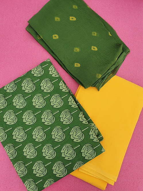 Unstitched Green Lotus