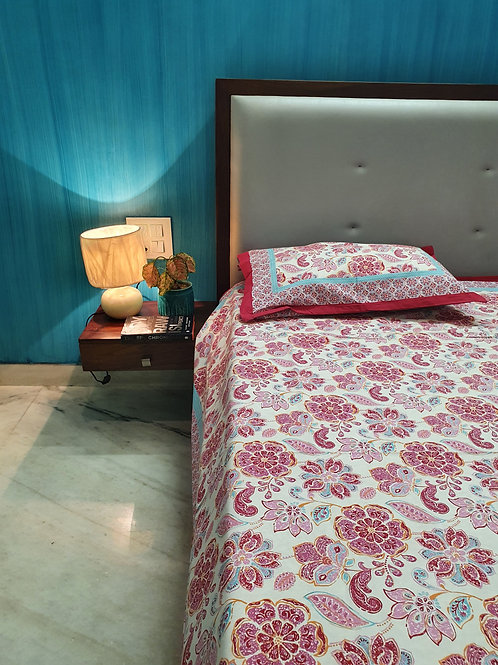 Carnations Cotton Bedcover