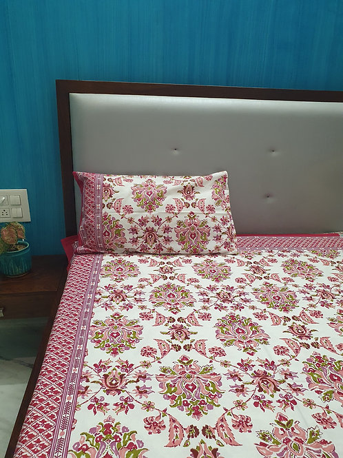 Red Mandala King Size Cotton Bedcover