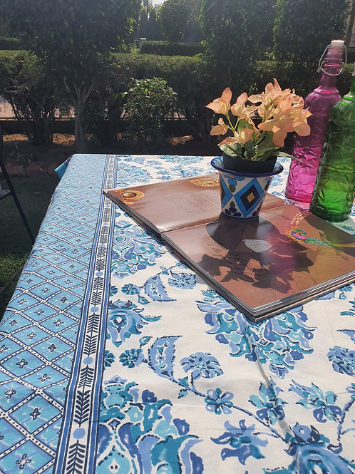 6 seater Dash of Blue Table Cover